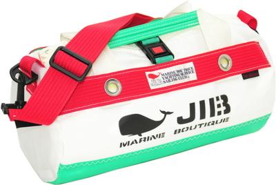 JIB ダッフルバッグSSボーダー DSSB146 エメラルドグリーン×レッド