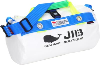 JIB ダッフルバッグSS DSS120 ホワイト×ブルー