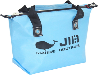 JIB ファスナートートS(オーバーファスナー)FTS68 ミオグレースシリーズ ミオブルー×チャコールグレー