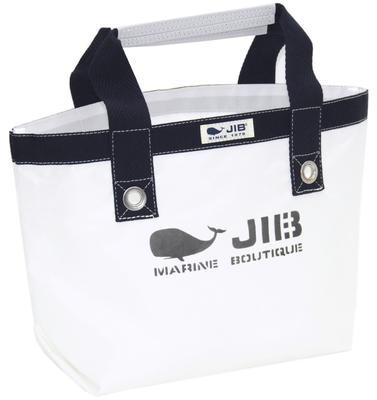 JIB オープントートS(ファスナー無しタイプ)TS63 ホワイト×ダークネイビー