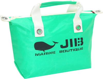 JIB ファスナートートM(オーバーファスナー)FTM88 エメラルドグリーン×アイボリーハンドル