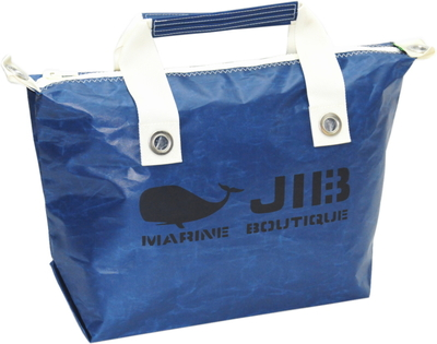JIB ファスナートートM(オーバーファスナー)FTM88 ネイビー×アイボリーハンドル