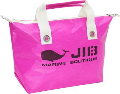 JIB ファスナートートM(オーバーファスナー)FTM88 ピンク×アイボリーハンドル