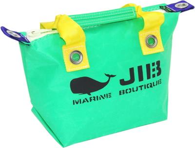 JIB ファスナートートSS(オーバーファスナー)FTSS53 エメラルドグリーン×イエローハンドル×ホワイトファスナー