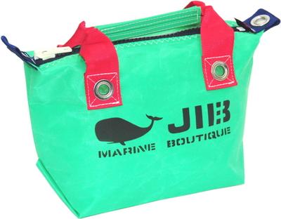 JIB ファスナートートSS(オーバーファスナー)FTSS53 エメラルドグリーン×レッドハンドル×ダークネイビーファスナー