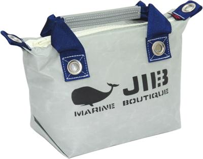 JIB ファスナートートSS(オーバーファスナー)FTSS53 グレー×ネイビーハンドル×ホワイトファスナー