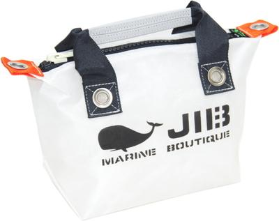 JIB ファスナートートSS(オーバーファスナー)FTSS53 ホワイト×チャコールグレーハンドル×チャコールグレーファスナー