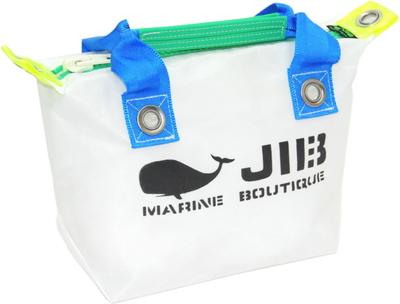 JIB ファスナートートSS(オーバーファスナー)FTSS53 ホワイト×ブルーハンドル×グリーンファスナー