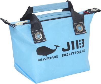 JIB ファスナートートSS(オーバーファスナー)FTSS53 ミオグレースシリーズ ミオブルー×チャコールグレー