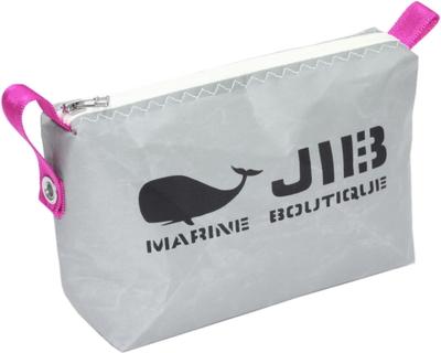 JIB ポーチ PO36 グレー×ホワイトファスナー/ピンク耳