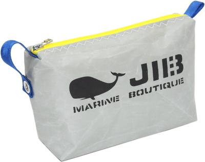 JIB ポーチ PO36 グレー×イエローファスナー/ダークブルー耳