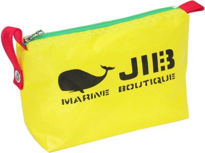 JIB ポーチ PO36 イエロー×グリーンファスナー/レッド耳