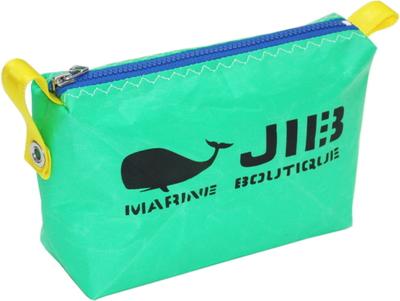 JIB ポーチ PO36 エメラルドグリーン×ブルーファスナー/イエロー耳