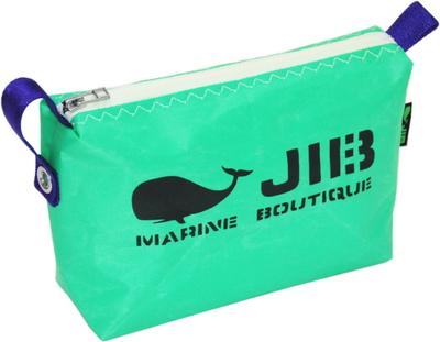 JIB ポーチ PO36 エメラルドグリーン×ホワイトファスナー/パープル耳