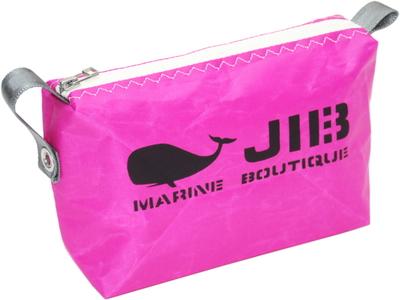 JIB ポーチ PO36 ピンク×ホワイトファスナー/グレー耳