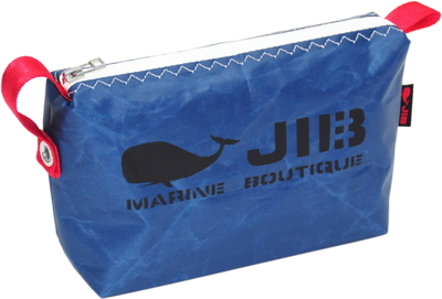 JIB ポーチ PO36 ネイビー×ホワイトファスナー/レッド耳