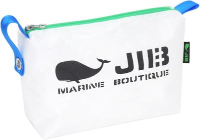 JIB ポーチ PO36 ホワイト×グリーンファスナー/ブルー耳
