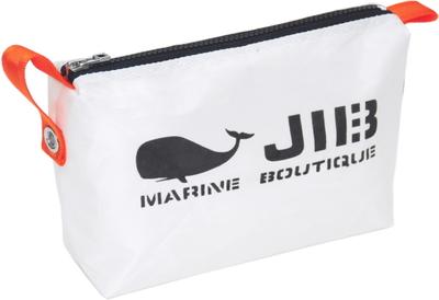 JIB ポーチ PO36 ホワイト×チャコールグレーファスナー/オレンジ耳