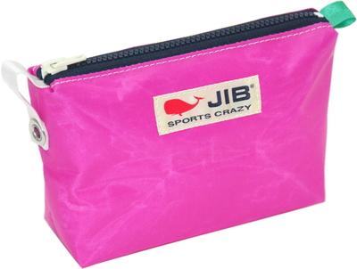 JIB フィンガーポーチ FPO22 ピンク×ダークネイビーファスナー/グリーン耳