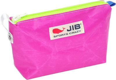 JIB フィンガーポーチ FPO22 ピンク×蛍光グリーンファスナー/ブルー耳