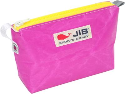 JIB フィンガーポーチ FPO22 ピンク×イエローファスナー/グレー耳