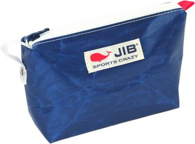 JIB フィンガーポーチ FPO22 ネイビー×ホワイトファスナー/レッドみみ
