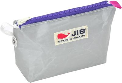 JIB フィンガーポーチ FPO22 グレー×パープルファスナー/ピンクみみ