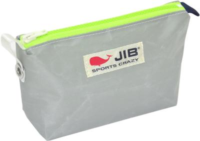 JIB フィンガーポーチ FPO22 グレー×蛍光グリーンファスナー/ネイビーみみ