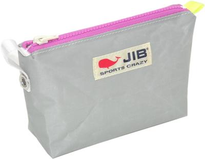 JIB フィンガーポーチ FPO22 グレー×ピンクファスナー/蛍光イエローみみ