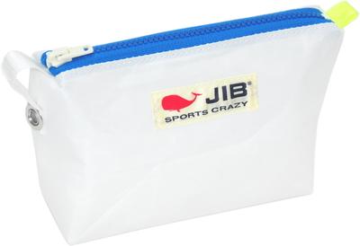 JIB フィンガーポーチ FPO22 ホワイト×ブルーファスナー/蛍光イエローみみ
