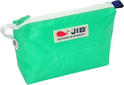 JIB フィンガーポーチ FPO22 エメラルドグリーン×ホワイトファスナー/ネイビーみみ