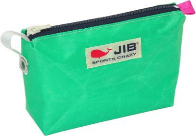 JIB フィンガーポーチ FPO22 エメラルドグリーン×ダークネイビーファスナー/ピンクみみ