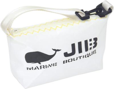 JIB ハンドルポーチS HPOS26 ホワイト×イエローステッチ