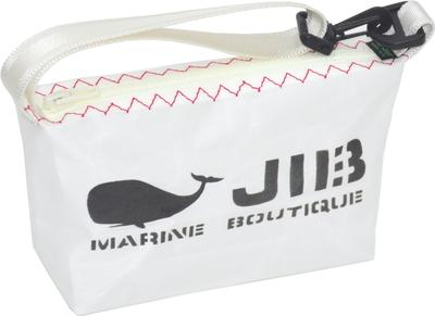 JIB ハンドルポーチS HPOS26 ホワイト×レッドステッチ