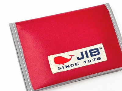 JIB カードブックケース CBC16 レッド×グレー