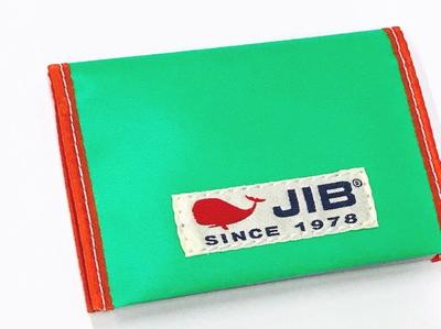 JIB カードブックケース CBC16 エメラルドグリーン×オレンジ