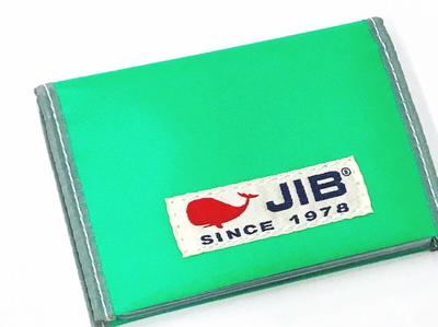 JIB カードブックケース CBC16 エメラルドグリーン×グレー