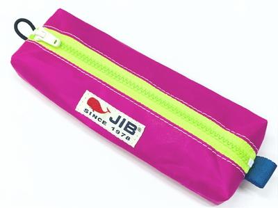 JIB ペンケースM PCM16 ピンク×蛍光グリーンファスナー