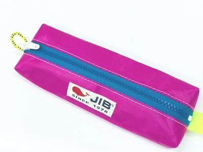 JIB ペンケースM PCM16 ピンク×ブルーファスナー
