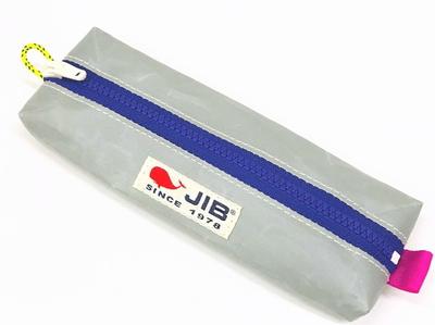 JIB ペンケースM PCM16 グレー×パープルファスナー