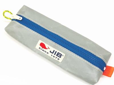 JIB ペンケースM PCM16 グレー×ブルーファスナー