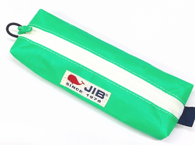 JIB ペンケースM PCM16 エメラルドグリーン×ホワイトファスナー