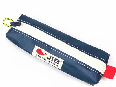 JIB ペンケースS PCS14 ネイビー×ホワイトファスナー