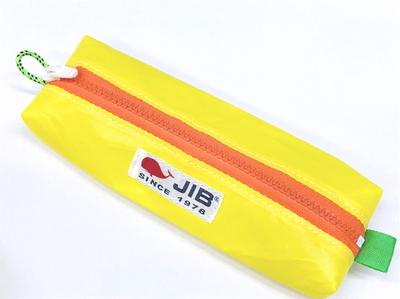 JIB ペンケースM PCM16 イエロー×オレンジファスナー