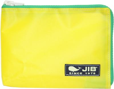 JIB マイクロクラッチラージM MCM28 イエロー×グリーン/ダークネイビータグ