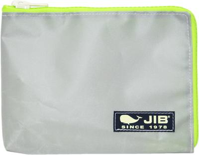 JIB マイクロクラッチラージM MCM28 グレー×蛍光グリーン/ダークネイビータグ