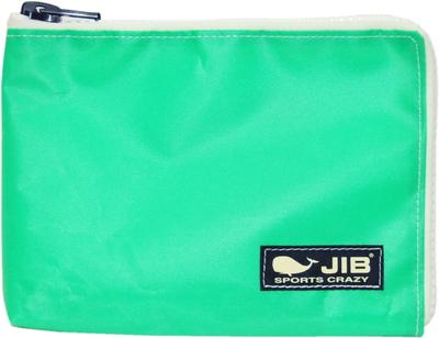 JIB マイクロクラッチラージM MCM28 エメラルドグリーン×ホワイト/ダークネイビータグ