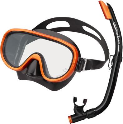 ReefTourer リーフツアラー RC0103 スノーケリング用・シリコーン製マスク&弁付きドライスノーケル大人用2点セット 10才~大人