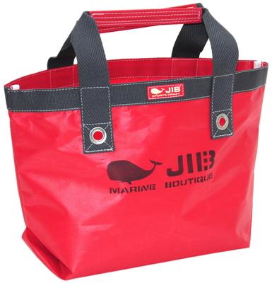 JIB オープントートS(ファスナー無しタイプ)TS63 レッド×チャコールグレー
