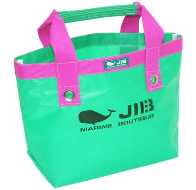 JIB オープントートS(ファスナー無しタイプ)TS63 エメラルドグリーン×ピンク